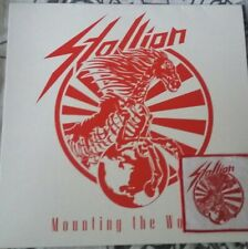 Stallion Speed Metal Mounting The World LP Red + Woven Patch + Sticker