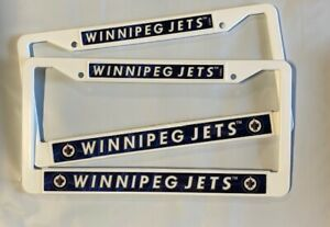 2 Winnipeg Jets License Plate Frame White Letters NEW Auto Truck FREE SHIPPING