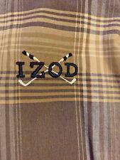 Izod Plaid Golf Golfer's Delight Shirt Polo Windbreaker Men Sz Xl 42 44 �m17