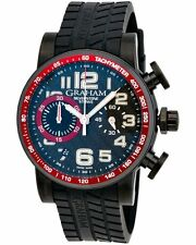 GRAHAM SILVERSTONE STOWE 44 CHRONOGRAPH AUTOMATIC MEN'S WATCH RED & BLACK $7,600