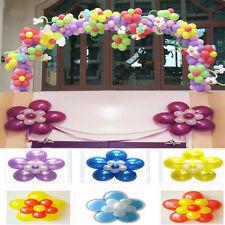 10*Pinces en plastique forme de fleur prune nouveau double fixations de ballon