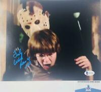 TED WHITE SIGNED 8X10 PHOTO JASON VOORHEES FRIDAY THE 13 BAS COA WA32626