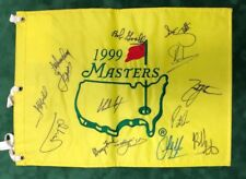 1999 Masters Golf Flag Signed Autograph 14 Winners AFTAL COA REED, SPIETH, SCOTT