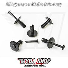 10x parachoques spreiznieten fijación clips KLIPS clip Opel bmw negro nuevo