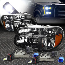 SMOKED HEADLIGHT+AMBER CORNER+6000K WHITE LED SYSTEM FOR 95-01 FORD EXPLORER