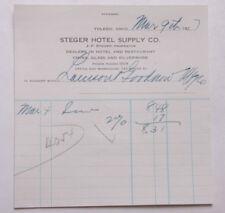 1927 Lamson Goodnow Steger Hotel Supply Co Toledo OH Ephemera L903G