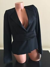 NWT 328$ Sinequanone Black  Jacket Blazer Small Women