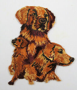 Golden Retriever dog heat seal embroidered badge