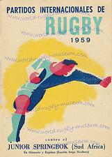 ARGENTINA v JUNIOR SPRINBOKS 1959 SUPERB RUGBY POSTER