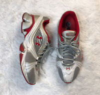 Under Armour Mens Speed Trainer II 2 Shoes Size 13 White/Red 1200280-161