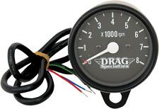 "Drag Specialties 2.4"" black face mini electronic tachometer Harley FL XL FXD FLS"