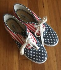 Vintage 90s Americam Flag Canvas Keds Cute!