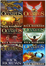 Heroes of Olympus Collection Rick Riordan 6 Books set House of Hades Lost Hero