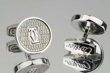 Cartier Silver plated cufflinks Mens jewelry Round logo