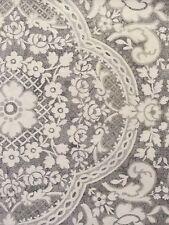 TAHARI Abbey Floral Medallion Shower Curtain 72x72 Silver,Gray,White