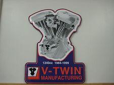 V-Twin Harley Davidson Evolution Engine Tin Sign EVO Motor Metal Plaque 48-0030