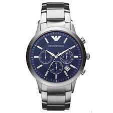 Novo Na Caixa Emporio Armani AR2448 masculino com mostrador azul e  cronógrafo relógio clássico fd12ccfb92