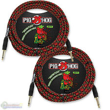"Pig Hog PCH20PL Guitar Instrument Cable 1/4"" to 1/4"" 20 ft. Tartan Plaid 2 Pack"