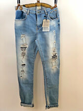 Zara women's distressed cropped jeans 👖 from the premium denim collection 13/14