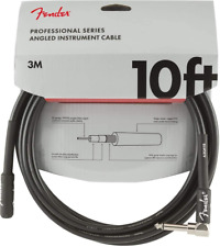 Fender Professional Series Instrument Cable - 10 ft - STR/ANG - black