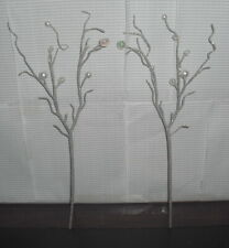 ACCESSORY BARBIE DOLL HOLIDAY VISIONS SILVER GLITTER BEAD TREE PICKS FOR DIORAMA