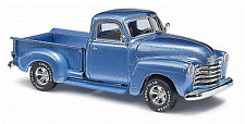 Busch # 48231 1950 Chevrolet Pickup Truck - Assembled Metallic Blue Ho Mib