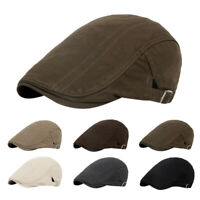 Unisex Fashion Cotton Newsboy Cap Soft Fit Cabbie Hat Outdoor Casual&Dress Style