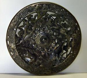 Gusseisen-Teller mit Durchbruch um 1880 Russland   /5220