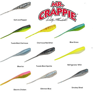 Strike King Mr. Crappie Lightning Shad, MRCLS2 Panfish Lures, Choice of Colors