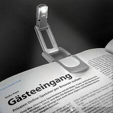 EAXUS LED Leselampe Buch Lese Leuchte Licht Buchlampe Buchleuchte Klemmleuchte