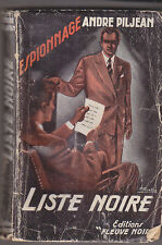 C1 Andre PILJEAN Liste Noire FN ESPIONNAGE # 68 1955 EO