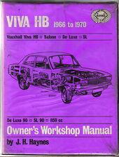 Vauxhall Viva HB Series Saloon De Luxe SL 1966-70 Haynes Owners Workshop Manual