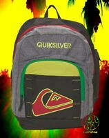 New Quiksilver New School Rasta Backpack Bookbag