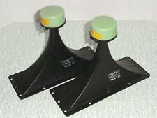 """Pair Magnavox Metal Horns Tweeters 580088-1 Vintage Drivers 10.5"""" x 4"""" 16-Ohm"""