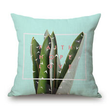 #6 Cactus 45*45 Plant Linen Pillow Case Throw Cushion Cover Home Sofa Decor