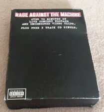 RAGE AGAINST THE MACHINE LIVE VHS & CD BOX SET THE GHOST OF TOM JOAD 1997.