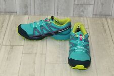 Salomon Speedcross Athletic Shoes - Big Girls Size 6 - Teal/Lime