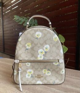 NWT Coach Jordyn Backpack In Signature Canvas With Daisy Print