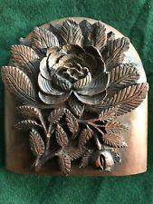 Antique carved hardwood flower