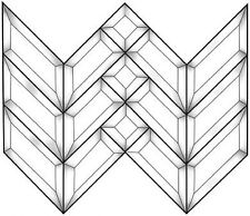 Stained Glass Supplies Prairie Arrow Style Bevel Cluster Ec100