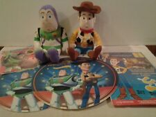 Buzz & Woody plush & Toy Story foam placemats + stencil & stamp set & banner NEW