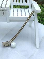 Miniature Dollhouse FAIRY GARDEN Accessories ~ Golf Club & Ball ~ NEW