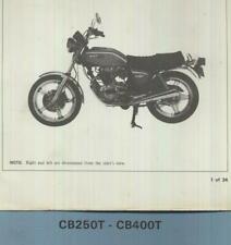 Honda CB250T CB400T Dream (1977 >) Official Set-Up Manual CB 250 400 T Hawk CB73