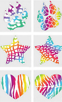 Amazing Animal Print Rainbow Temporary Tattoos Party Bag Fillers Pack 6 - 36