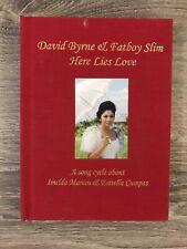SIGNED David Byrne & Fatboy Slim Here Lies Love 2 CDs DVD Cyndi Lauper