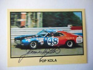 James Hylton signed 1990 MOR #48 POP KOLA 1971 MERCURY Winston Cup Card #162