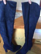 Unisa Knee High Suede Blue Boot Sz 9.5