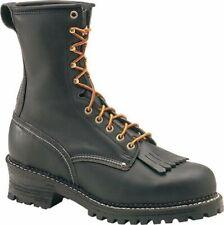 Carolina Shoes Men Steel Toe Logger Boots 1922 Color BLACK