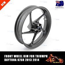 1 x Quality Motorcycle Rim Wheel FRONT Triumph Daytona 675R (2013-2014) Black AU