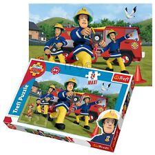 Trefl 24 Piece Maxi Kid Boys Fireman Sam Fire Engine Hose Play Toy Jigsaw Puzzle